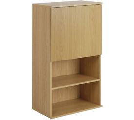 Hygena Modular Single Door Wall Cabinet - Oak