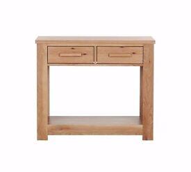 Ex-display Schreiber Harbury 2 Drawer Console Table - Light Oak