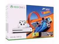 Microsoft Xbox One S Forza Horizon 3 Hot Wheels Bundle 500GB White Console. NEW