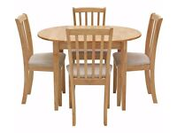 Ex display Banbury Extendable Dining Table & 4 Chairs - Natural