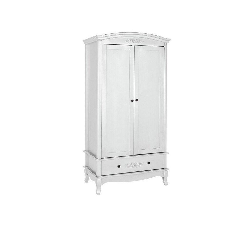 Collection Sophia 2 Door 1 Drawer Wardrobe - Ivory