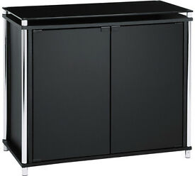 Hygena Matrix 2 Door Sideboard - Black Glass