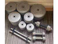 80kg Rubberized York Weight Plates + Dumbbells (Free Delivery)