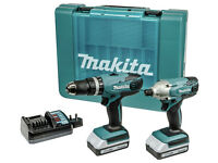 Makita G-Series Combi Drill and Impact Driver Twinpack - 18V