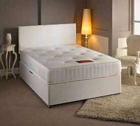 """""""SAME DAY FAST DELIVERY""""--Brand New Double Divan Base + 10"""" Thick Orthopaedic Mattress -- Get It Now"""