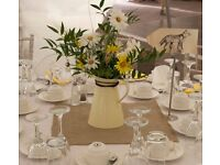 7 x Ivory jugs - Wedding/Party table decoration