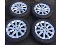 "16"" Genuine Mercedes A Class Alloy Wheels & Tyres 205/55R16 5x112 Fits C B E V Vito Viano W176"