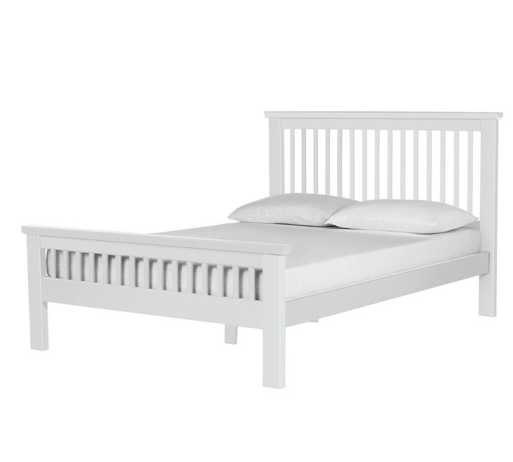 HALF PRICE! Aubrey Double Bed Frame - White | in Leicester ...