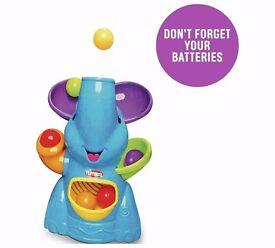 Playskool pop poppin N park Elefun the Elephant Blue busy ball pooper