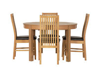 Coleridge Extendable Oval Table - 4 Paris Chairs Black