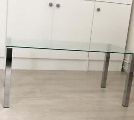 Glass coffee table and console unit