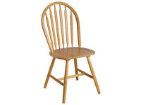 Collection Kentucky Pair of Solid Wood Dining Chairs-Natural