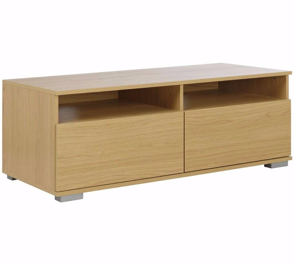 Hygena Modular Base 2 Drawer TV Unit - Oak (EX-DESPLAY)