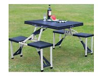 Folding Picnic Table and Stools 295.