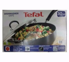 Tefal Hard Anodized Aluminium 30cm Sauté Pan with Lid