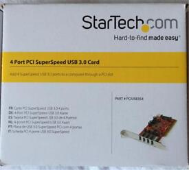 4 Port PCI Super Speed USB 3.0 card