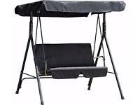 HOME 2 Seater Garden Swing Chair - Black 457.