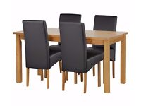Dining table with 4 chairs and TV unit