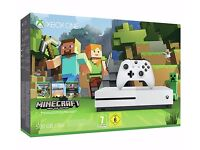 Boxed, New xbox one S 500gb minecraft