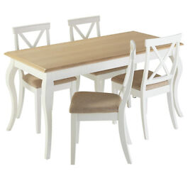 Southwold Dining Table & 4 Chairs - Two Tone