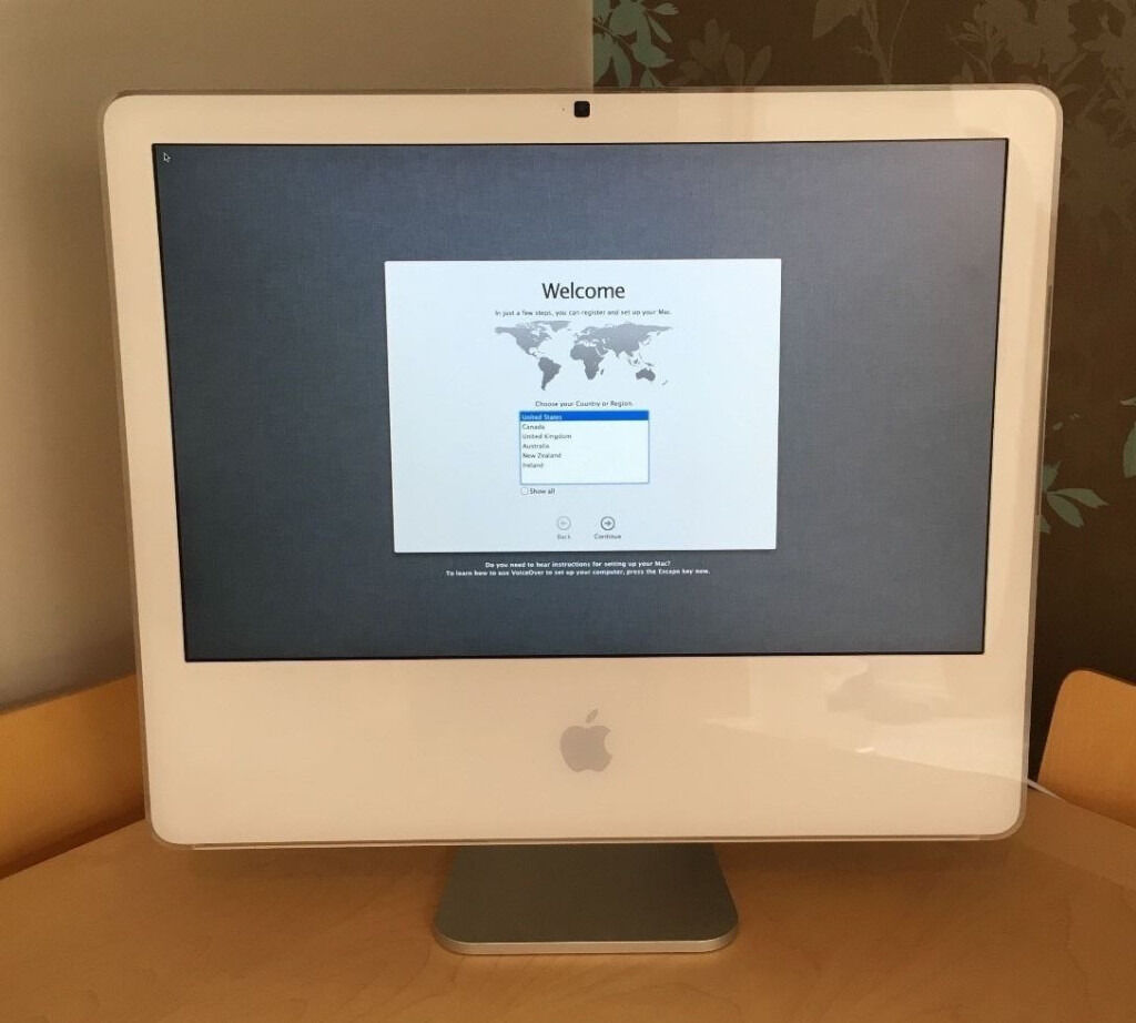 apple mac imac pc 20 screen os x lion intel processor new wireless keyboard mouse exc. Black Bedroom Furniture Sets. Home Design Ideas