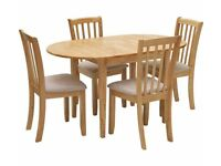 Banbury Extendable Table & 4 Chairs - Cream