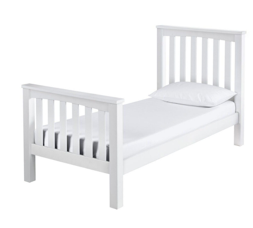 Collection Maximus White Bed Frame - Single