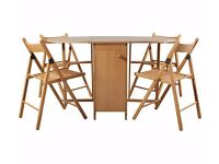 HOME Butterfly Oval Dining Table and 4 Chairs - Oak Stain 252.
