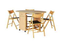 Willow Dining table and 4 chairs - Oak