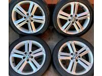 Volkswagen Polo 16 inch Alloy Wheels 5 x 100 Genuine Ronal 7J ET46 215/45 r16 Seat Ibiza Audi A1