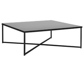 HOME Low Level Chrome Coffee Table - Black