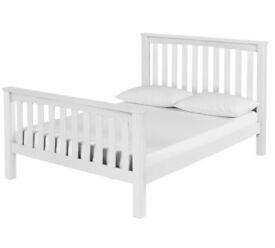 Maximus White Bed Frame - Double
