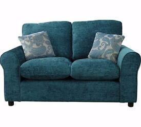 TEAL SOFA COMPACT 5 WEEKS OLD BOUGHT FROM ARGOS