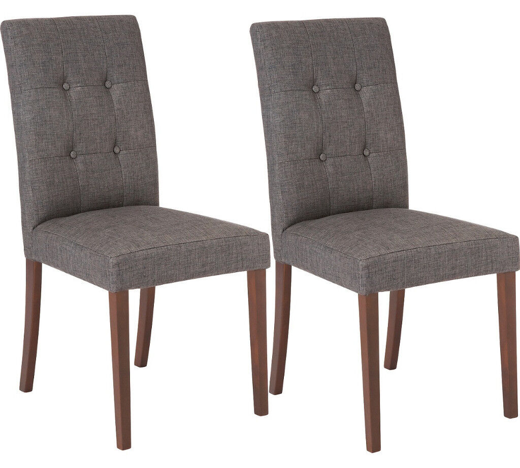 Collection Adaline Pair of Walnut Effect Dining Chairs