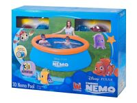 Disney Finding Nemo 3D Paddling Pool - 7ft - 7 foot - no rips or tears