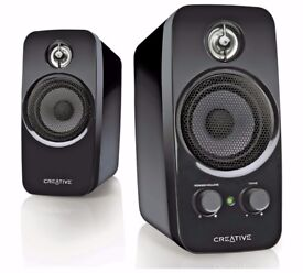 Creative Inspire T10 2.0 Desk Top/Multimedia Speakers ~ Easy Install, Plug in and Play ~ As New