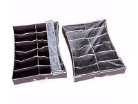 Flexible Underbed Shoe Storage x2