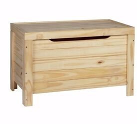 HOME Wooden Storage Box - Unfinished Pine 383.