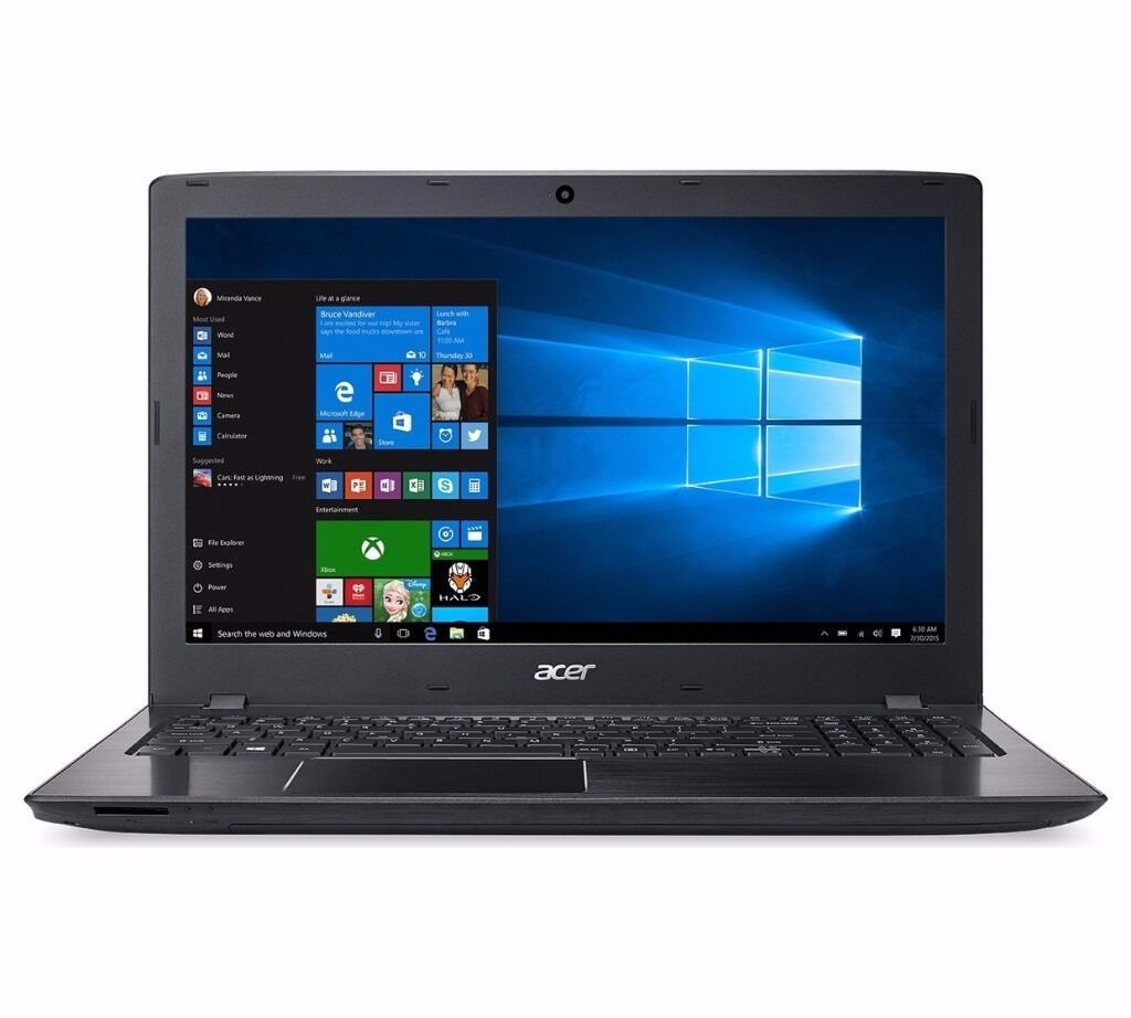 like new- Acer Aspire E 15.6 Inch Ci5 8GB 2TB Laptop - Black