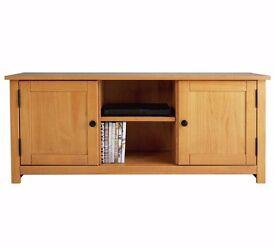 EX-DISPLAY Porto Solid Wood TV Unit - Oak Effect