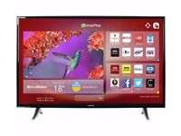 brand new hitachi 32inch freeview play led smart tv/dvd combi