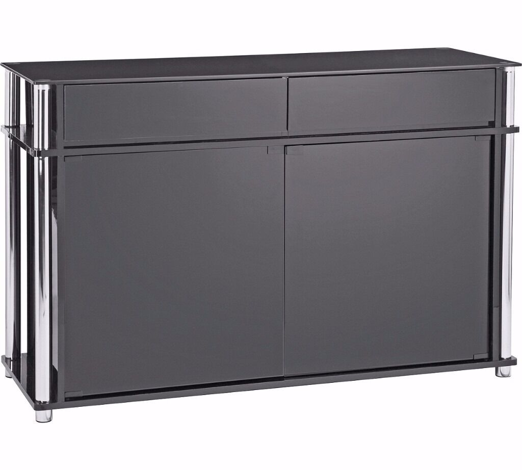 new less  shop price black gloss sideboard  dresser boxed  - new less  shop price black gloss sideboard  dresser boxed delivery