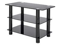 Black Glass 32 Inch Slimline TV Stand
