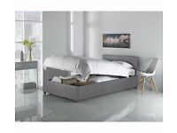 Hygena Single Ottoman Bed Frame - Grey new boxed