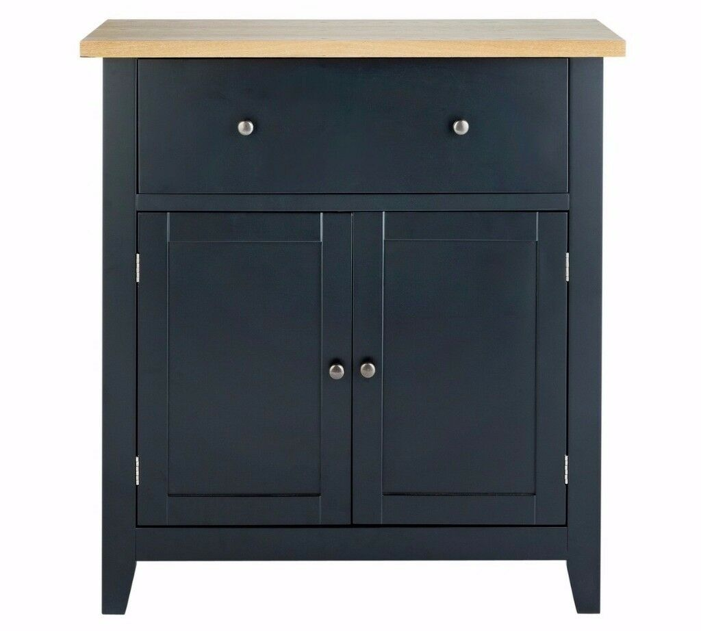 Ex-display Luna 2 Door 1 Drawer Sideboard - Black