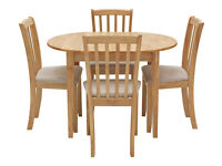 Collection Banbury Ext Solid Wood Dining Table & 4 Chairs