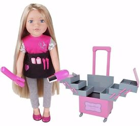 BNIB - Chad Valley DesignaFriend Stylist Doll Set And Accessories Sophia