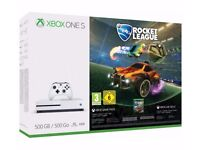 Xbox One S 500GB Rocket League Blast-Off Console Brand New Sealed