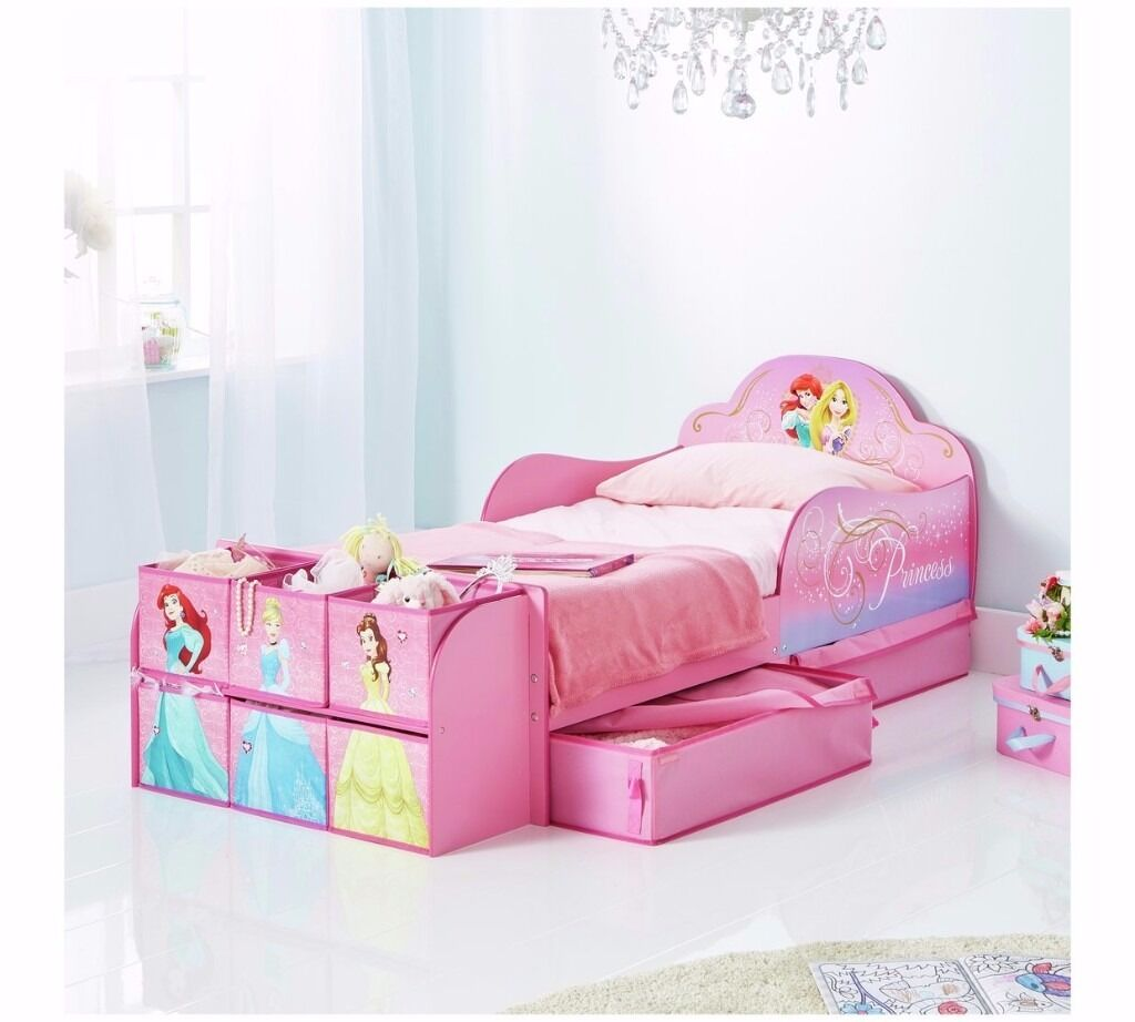 New princess toddler bed with drawers less 1 3 shop price boxed delivery available in - Toddler beds with drawers ...