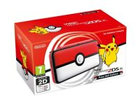 Limited edition Pokeball 2ds xl console with games